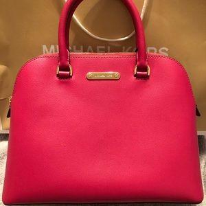Micheal Kors dark pink satchel